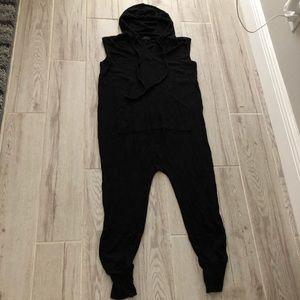 Super soft onesie sleeveless hoodie front pockets